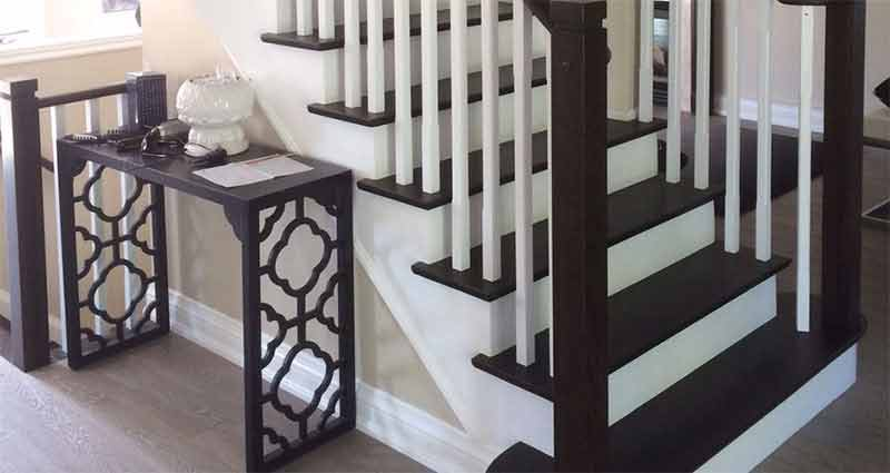 Dark Refinished Stairs