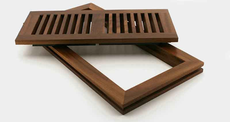 Flushmount Wooden Vent Cover